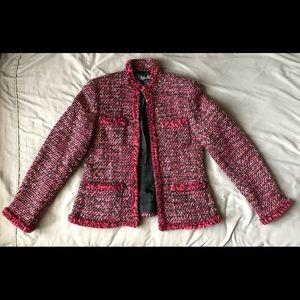 Rafaella pink/black/white boucle tweed jacket
